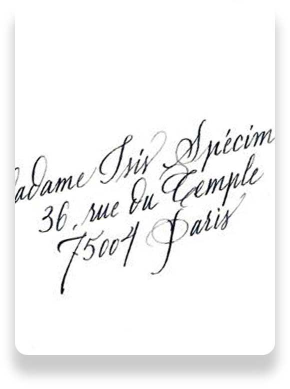 faire-part de mariage ou de naissance calligraphiés à Paris 4e